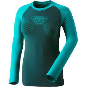 Dynafit Speed Dryarn - T-shirt manches longues running Femme - jaune/turquoise